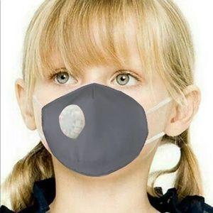 Gray Children's Face Mask Valved Respirator